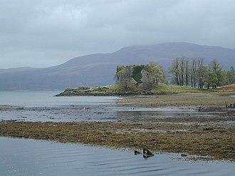 Clan Maclachlan - Ruinous Old Castle Lachlan, overlooking Lachlan Bay on Loch Fyne. The castle was built sometime in the 15th century, and finally abandoned in the 18th century.