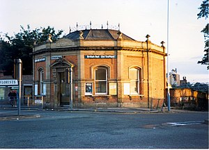 Trafford Bar tram stop - Image: Old Trafford station from the road geograph.org.uk 824733