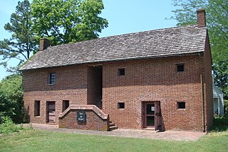 Lancaster Court House Historic District - The Old Jail, Lancaster, Virginia