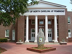 Unc Pembroke Campus Map.University Of North Carolina At Pembroke Wikipedia