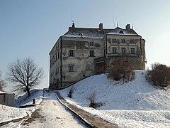 Картинки по запросу олеський замок взимку