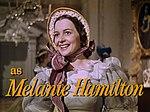 Olivia de Havilland as Melanie Hamilton in Gone With the Wind trailer.jpg