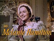 De Havilland as Melanie Hamilton.
