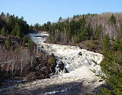 High Falls on the Onaping River as seen from the A.Y. Jackson Lookout