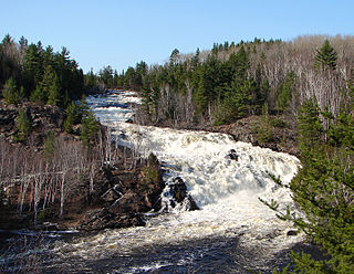 Onaping River watercourse in Canada
