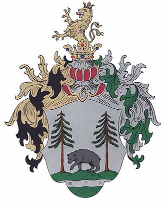 Orava (region) - Coat of arms of the now defunct county