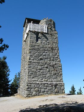 Orcas Island, Mt. Constitution, CCC Stone Tower, September 2012.jpg