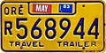 Oregon 1983 Travel Trailer license plate - Polyvend.jpg