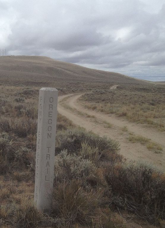 File Oregon Trail At Pacific Springs Wyoming Jpg