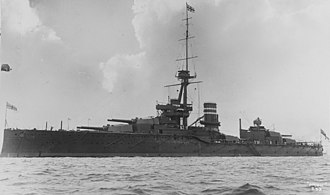 HMS Orion (1910) - Image: Orion NH 57802