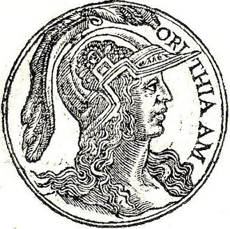 Orithyia (Amazon) - Orithya from Guillaume Rouillé's Promptuarii Iconum Insigniorum