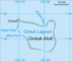 Oroluk Atoll - Map of Oroluk Atoll
