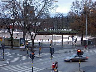 sportsground in Östermalm in Stockholm, Sweden