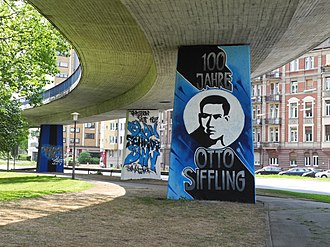 Otto Siffling - Graffiti in Mannheim, Otto Siffling 100 years