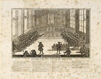 Estates of Brittany - The opening of the Estates of Brittany in 1756 by Christopher Paul de Robien.