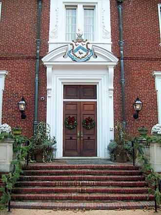 Oxon Hill Manor - Image: Oxon Hill Manor Front Entry Detail Dec 10