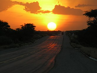 BR-101 - Image: Pôr do Sol na BR 101 Natal RN