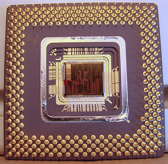P5 (microarchitecture) - Pentium MMX 166 MHz without cover