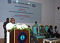 P. Radhakrishnan addressing at the inauguration of the Estuary '15 – Two Day National Seminar & Intercollegiate Management Fest, organised by the Indian Maritime University, in Chennai. The Chennai Port Trust Chairman.jpg