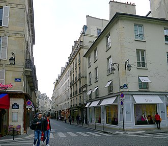 Rue Bonaparte - Rue Bonaparte - view of the place Saint-Germain-des-Prés looking towards the rue Jacob.
