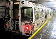 A PA1 model leaving the 14th Street station.