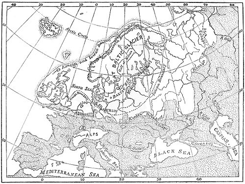 PSM V49 D383 Stages of the ice age in europe.jpg