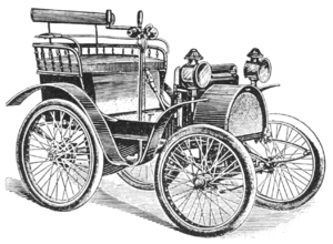 Renault Voiturette - General view of Renault Voiturette, circa 1900.