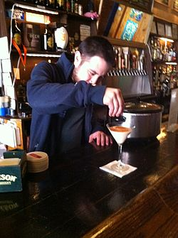 Pacific Standard owner preparing Santorum cocktail drink 08.JPG
