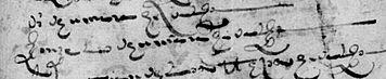 Padrón de Miera del año 1519 en el que aparecen Diego de Umara y Gonzalo de Umara, hidalgos.
