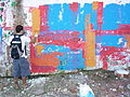 Painter and Abstract Design on Wall - Salvador - Brazil.jpg