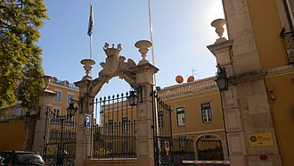 Penafiel Palace - The main gate and facade of the Palace