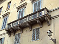 Palazzo Bartolini Baldelli su piazza santa croce 03 balcone.JPG