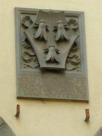 Barberini family - Family coat-of-arms at the Palazzo Barberini.