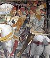 Palazzo schifanoia, salone dei mesi, 03 marzo (f. del cossa), borso alla caccia e amministrat. di giustizia 03 borso.jpg