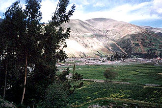 Department of Huancavelica - View of Pampas in the Tayacaja province