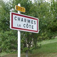 Panneau d'agglomeration de Charmes-la-Cote.jpg