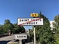 Panneau sortie St Denis Bugey Panneau Michelin Albarine St Denis Bugey 2.jpg