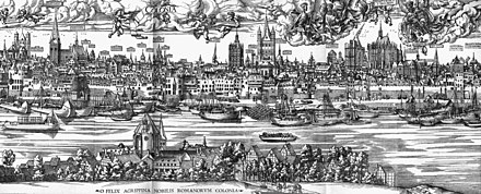 Panorama of Cologne in 1530