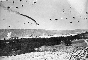 Military history of Greece during World War II - German paratroopers land in Crete, May 1941
