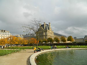 History of parks and gardens of Paris - The Tuileries Gardens, created for Queen Catherine de' Medici in 1564 and remade by Andre le Notre for Louis XIV in 1664
