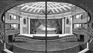 Broadway theatre - Interior of the Park Theatre, built in 1798