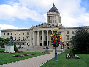 Manitoba Legislature, meeting place of the Leg...