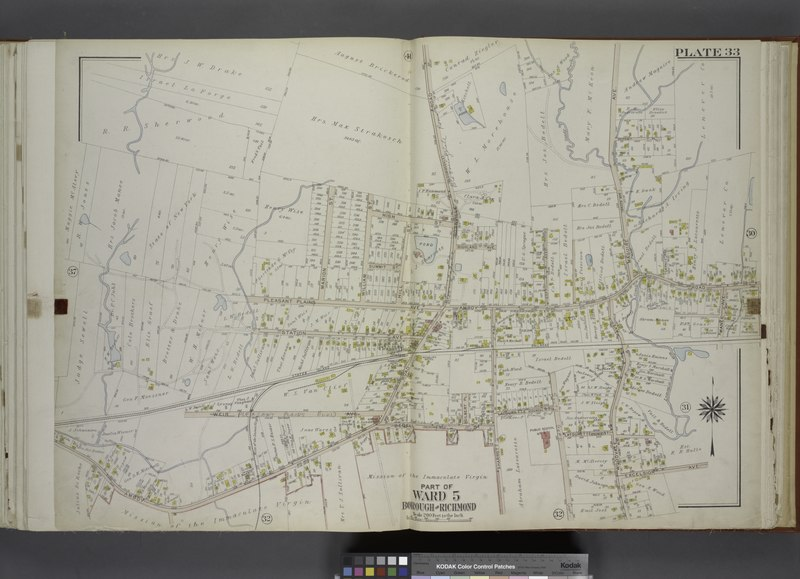 File:Part of Ward 5. (Map bound by Pleasant Plains Ave, Marion St, William St, High St, Rossville Road (Bloomingsdale), Amboy Road, Maguire Ave (Brook Ave), Manee Ave, Staten Island Rail Road, NYPL1646300.tiff