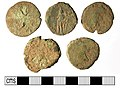 Part of a Roman sesterces coin hoard reverse view (FindID 477845-360717).jpg