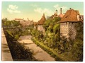 Part of wall with castle, Nuremberg, Bavaria, Germany-LCCN2002696158.tif