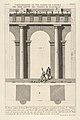 Partial elevation and plan of the first-order portico at the Theater of Marcellus (Dimostrazione di una parte de' portici del prim' ordine del Teatro di Marcello), from 'Le Antichità Romane' MET DP831900.jpg