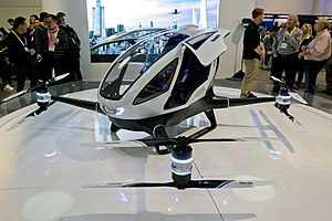 Passenger drone - First Electric Passenger Drone: Ehang 184