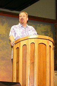 Pastor Rick Warren at Saddleback Church.