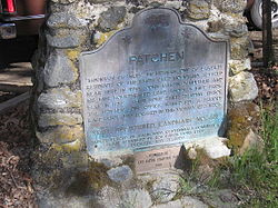 California Historic Marker 448, for Patchen, California.