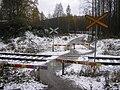 Pedestrian crossing on Haapamäki–Jyväskylä-track.jpg